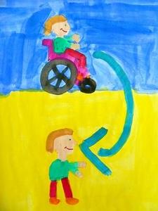 Kinder mit Koerperbehinderung gestalten Kalender 2008